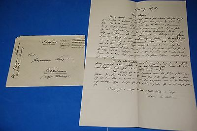 1918 World War, German Captain Field Post Vintage old Letter WWI, Antique yy 28