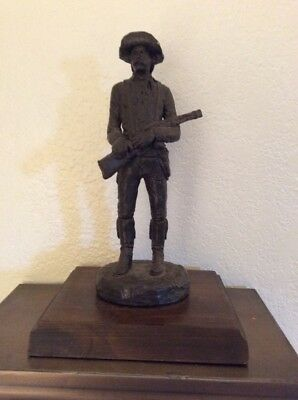 Michael Garman Stage Driver Sculpture Signed 1987