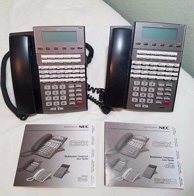 NEC DSX 34B BL Phone 1090021 LOT of  2 Phones Used Good Condition