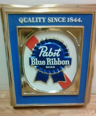 Pabst blue ribbon sign, embossed plastic
