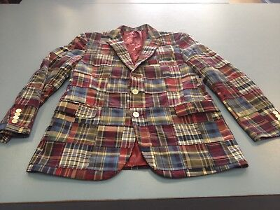 Vtg Brooks Brothers Patchwork Old Man Golf Blazer Country Club Sz Mens 42 Jacket