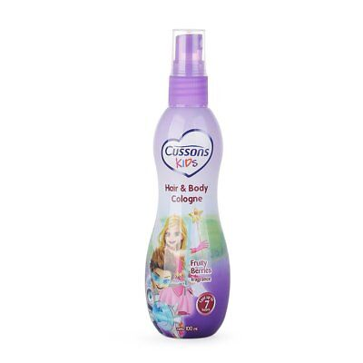 Cussons Kids Children Hair and Body Cologne Fresh Aroma Fruity Berries 100ml VV