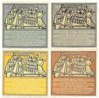 **1921 HAMELN Germany Banknote- SQUARE NOTES ~ Complete Set German Notgeld