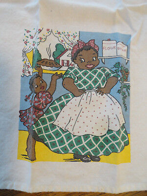 Vintage Black Americana MAMMY Kitchen Hand Towel by Country House Collection