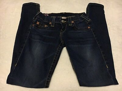 TRUE RELIGION CASEY Legging Skinny Low rise Woman's Denim Blue Jeans Size 23 EUC
