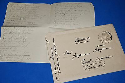 1918 World War, German Captain Field Post Vintage old Letter WWI, Antique yy 24