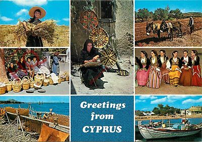 Picture Postcard- Greetings From Cyprus (Multiview)