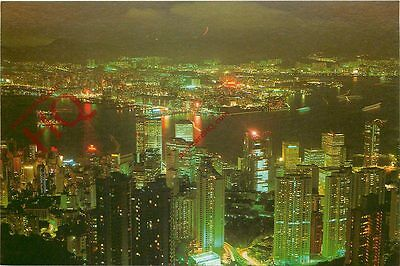 Picture Postcard- Hong Kong Night Scene From Peak
