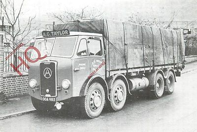 Picture Postcard- Lorry, Atkinson, A. G. Taylor, Worcester