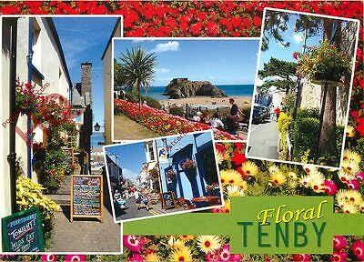 Picture Postcard::Floral Tenby (Multiview)
