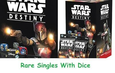 Star Wars Destiny - Empire at War - Rare Singles with Dice