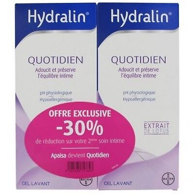 HYDRALIN Quotidien Gel Lavant - 2x400ml
