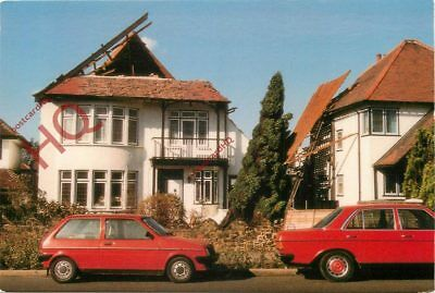 Picture Postcard-:Great Storm Of 1987, Roof Damage In Westcliffe-On-Sea