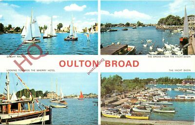 Picture Postcard:-Oulton Broad (Multiview)