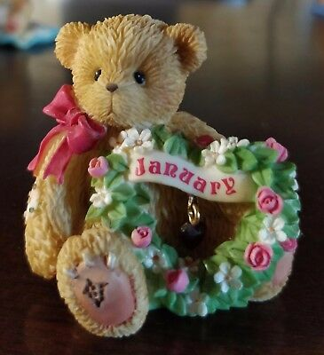 Cherished Teddies January Bear Figurine A New Year with Old Friends