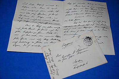 1918 World War, German Captain Field Post Vintage old Letter WWI, Antique yy 25