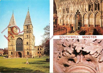 Picture Postcard-:Southwell Minster (Multiview)