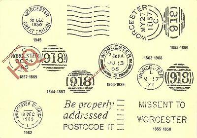 Picture Postcard:-Worcester Postmarks 1844 To 1983