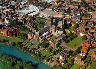 Picture Postcard-:Worcester Cathedral [Airviews]