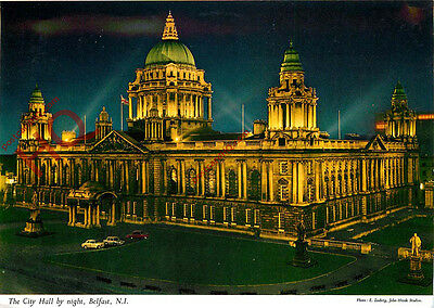 Picture Postcard; Belfast, City Hall by Night