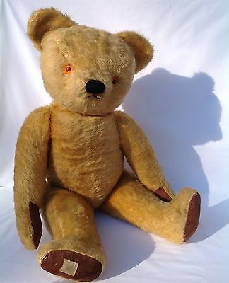 Big Boy Chad valley Vintage Old Antique Bear 70cms All original