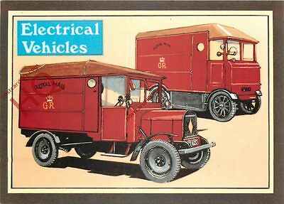 Picture Postcard~ Royal Mail Electrical Vehicles (Repro)