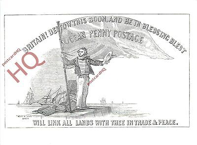 Picture Postcard~ Ocean Penny Postage