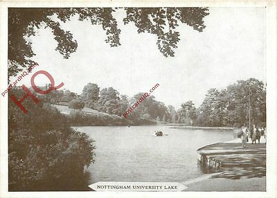 Picture Postcard~ Nottingham University Lake