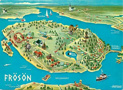 Picture Postcard: Froson, Map