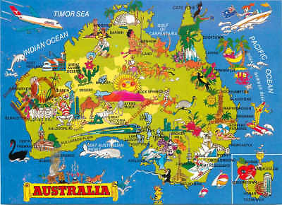 Picture Postcard--Australia, Map