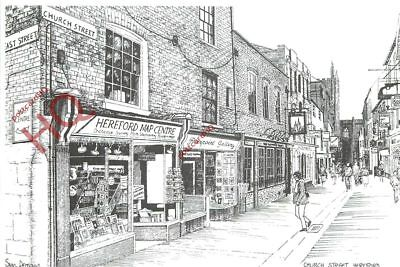 Picture Postcard, Hereford, Church Street