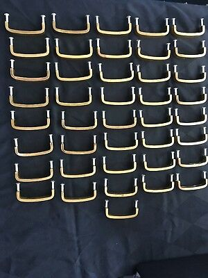 Lot of 42 Vintage Solid Brass Cabinet Drawer Handles ~Square
