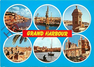 Picture Postcard:;Malta, Grand Harbour