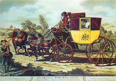 Picture Postcard::The Original Bath Mail Coach