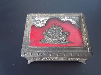 metal jewelry box from occupied japan