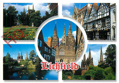 Picture Postcard:;Lichfield (Multiview)
