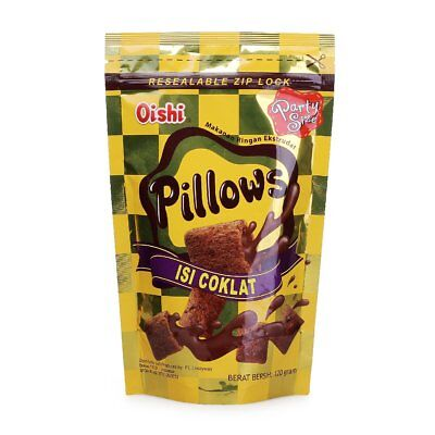 Oishi Pillows Chocolate Filled Biscuits Rice Crackers Party Snacks 130g Halal VV