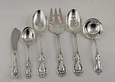 Towle Spanish Provincial Sterling Silver 6 Piece Serving Set - No Monograms