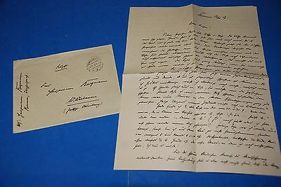 1918 World War, German Captain Field Post Vintage old Letter WWI, Antique yy 26