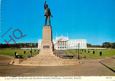 Postcard~ Belfast, Lord Carson Memorial And Northern Ireland Buildings, Stormont