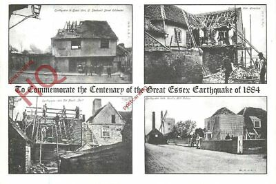 Postcard-:To Commemmorate The Centenary Of The Great Essex Earthquake 1884