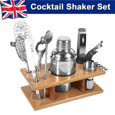 8pc Cocktail Shaker Gift Set+Drink Pub Alcohol Mixer Making Bar Kit Accessories