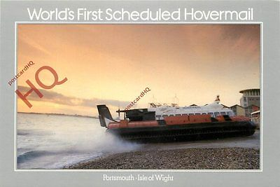 Picture Postcard; HOVERCRAFT, WORLD'S FIRST SCHEDULED HOVERMAIL, ROYAL MAIL