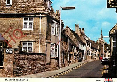 Picture Postcard; Stamford, St. Peter's Street