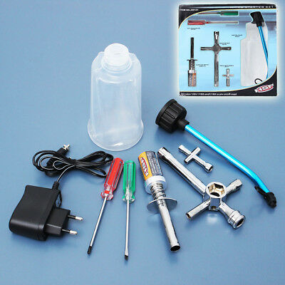 HSP RC Car Redcat Racing Nitro Starter Kit Glow Charger Tool Fuel Refill Bottle