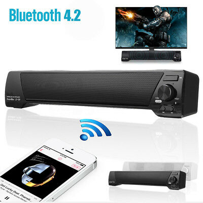 UK Speaker Sound Bar Bluetooth Soundbar Wireless Theater Built-in Subwoofer