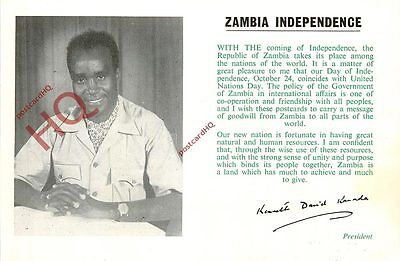 Picture Postcard--Zambia Independence