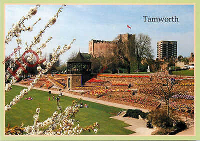 Picture Postcard--Tamworth, Castle Gardens