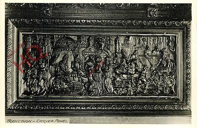 Picture Postcard--Trenython, Carved Panel, Blank Reverse