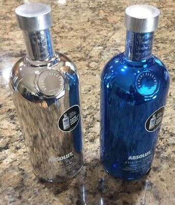 Limited Edition Factory Sealed & Empty Absolut Vodka Collector Bottles! Htf Rare